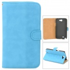 Protective Flip-open PU Leather Case for Samsung N7100 - Blue