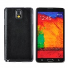 Protective Leather + ABS Back Case for Samsung Galaxy Note 3 N9000 / N9005 / N9002 - Black