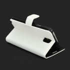 Stylish Flip-Open PU Leather Case w/ Stand / Card Slot for Samsung N9000 / Note 3 - White