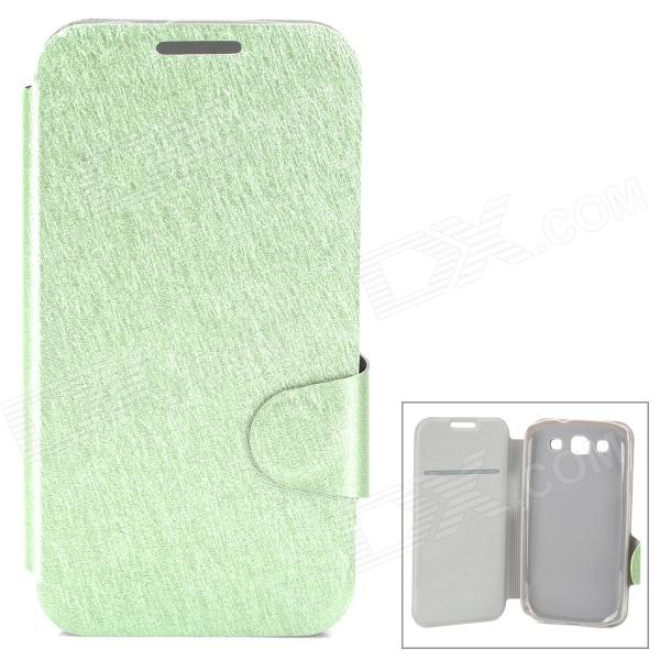 Protective Flip Open PU Leather Case w/ Stand / Card Slot for Samsung i9300 - Green protective flip open pu case w stand card slots for samsung galaxy s4 active i9295 black