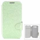 Protective Flip Open PU Leather Case w/ Stand / Card Slot for Samsung i9300 - Green