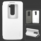 ROCK Protective PU Case w/ Window / Stand for LG Optimus G2 - White