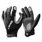 Spakct Cycling Microfiber Full Finger Touch Screen Warm Gloves - Black + White + Grey (M)