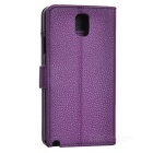 Protective PU Leather Case w/ Card Slot for Samsung Galaxy Note 3 - Purple