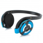 B-360 Wireless Bluetooth v2.1 + EDR Headphones w/ Microphone / FM / TF - Blue + Silver + Black