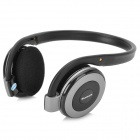 B-350 Wireless Bluetooth v2.1 + EDR Stereo Headphones w/ Microphone / FM / TF - Black + Grey