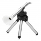 B005 USB Portable 200X Magnification 300KP Digital Microscope w/ Tripod - Silver + White + Black
