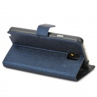 Protective PU Leather Case w/ Card Slot for Samsung Galaxy Note 3 N9000 - Deep Blue