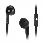 OMASEN OM-M8 Stereo In-ear Earphone w/ Microphone for Iphone / Samsung / HTC + More - Black
