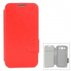 Protective Flip Open PU Leather Case w/ Card Slot for Samsung i9300 - Red