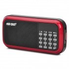 SAST XY-115 Multi-Function Media Player Speaker w/ FM Radio / TF / USB - Red + Black