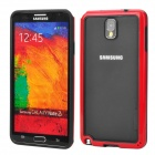 Protective Silicone Bumper Frame for Samsung Galaxy Note 3 N9000 - Black + Red