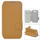 Protective Flip Open PU Leather Case w/ Stand / Card Slots for Samsung i9300 - Brown
