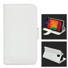 Protective Flip Open Case w/ Stand / Card Slots for Samsung Note 3 N9000 - White