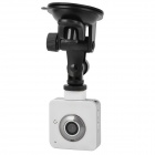 Mini Wide Angle CMOS 5.0MP Wi-Fi Camera / Car DVR w/ Motion Detection / TF / Micro USB / PAL - White