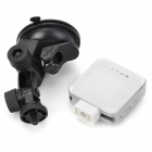 Mini Wide Angle CMOS 5.0MP Wi-Fi Camera / DVR do carro w / Motion Detection / TF / Micro USB / PAL - Branco