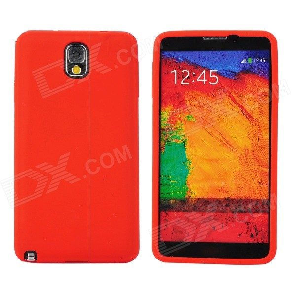 Protective Silicone Back Case for Samsung Galaxy Note 3 - Red pudini wb note 3 protective pc back case for samsung galaxy note 3 white