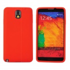 Protective Silicone Back Case for Samsung Galaxy Note 3 - Red