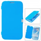 Protective Flip Open Silicone Case for Samsung Galaxy Note 2 N7100 - Blue