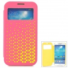 Joyroom Protective Flip Open PU + PC Case w/ Display Window for Samsung S4 i9500 - Red + Yellow