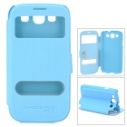 CHOICE-FUN CHOF-0012 Protective PU Leather Case for Samsung i9300 - Sky Blue