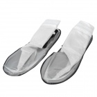 Safe Bird 0212 Rainproof Motorcycle Cycling Shoe / Boot Covers - Translucent + Black (L / Pair)