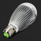 WindFire E27 7W 385LM 3500K Warm White LED Lamp - Silver (85~265V)