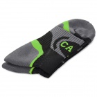 CAXA Outdoor Mountaineering Quick-drying Polyester + Spandex Socks for Men - Green + Black (Pair)