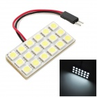exLED T10 3.6W 324lm 18-SMD 5050 LED White Light Car Reading / Interior / Compartment Lamp - (12V)