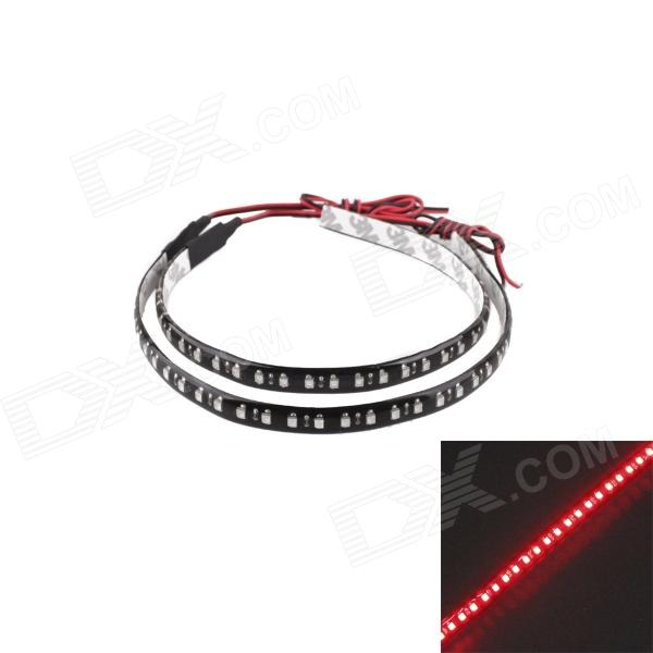 KWB-R 3.5W 320lm 32 x SMD 3528 LED Red Light Decoration Light / Scanning Light - Black (30cm) - DX3528 SMD Strips<br>Brand N/A Model KWB-R Quantity 2 piece(s) Color Black Material PVC epoxy Emitter Type 3528 SMD LED Chip Type Krill Total Emitters 32 Light Color Red Input Voltage DC 12 V Power 3.5 W Luminous Flux 320 lm Wavelength 620~630 nm Connector Type Wiring Waterproof Yes Waterproof Rate IP65 Application Decoration light Other Features Energy-saving low heat suitable for any 9-14V car power; 2. Long life adopts high-quality LED lamp wick very durable; 3. Omniseal waterproof design 100% waterproof; 4. Extrusion-resistance anti-shock soft materials safe; 5. High brightness uniform brightness wide illumination range; 6. Wide range of application can be used in car decoration light indoor DIY decoration and advertisement decoration; 7. Easy to install can be installed in any place in the car or out of the car. When the light in the car is on at night the car chassis light will shine beautiful light which makes your car colorful and bright. Packing List 2 x LED scanning light<br>