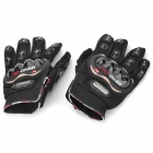 PRO-BIKER HJ-38 Motorcycling 450D Nylon Gloves - Black (Pair / XL)