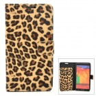 Leopard Pattern Protective PU Leather Case w/ Stand for Samsung N9000 - Yellow + Black