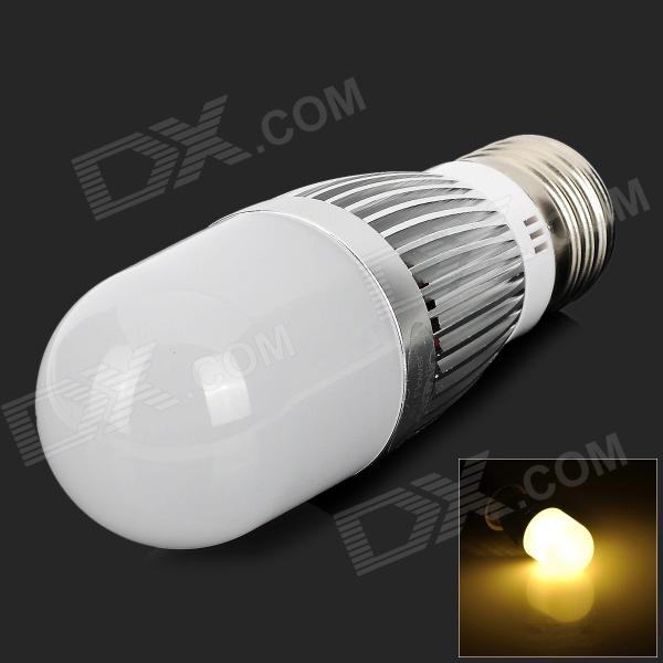 ApolloFlower E27 5W 480LM 3500K Warm White Light LED Corn Lamp - Silver + White (AC 110~250V)
