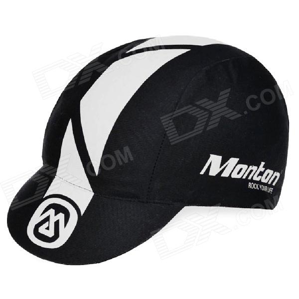 Monton Stylish UV Protection Cotton Cycling Cap Hat - Black + White trendy cotton fedora hat cap black