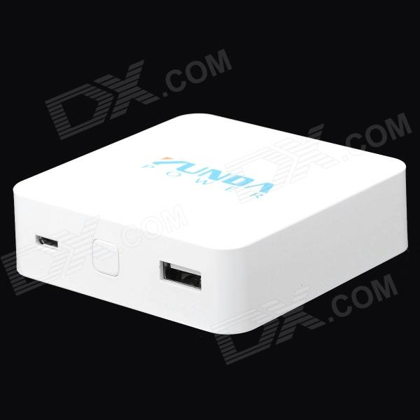 YUNDA YD-A6 External 7800mAh Power Battery Charger for Smart Phone / Tablet PC + More - White 5200mah mini rechargeable mobile power bank for cellphone tablet pc more blue white