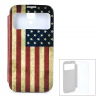 US National Flag Stil Schutzhülle w / Auto-Sleep für Samsung Galaxy i9500 S4 - Multicolor