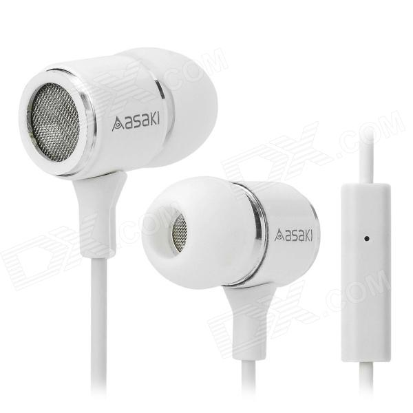 YOUER UR-M300 Universal In-ear Earphone w/ Microphone - White цена