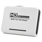 1080P HDMI to VGA / Audio-Out HD Audio Video Converter - White + Black