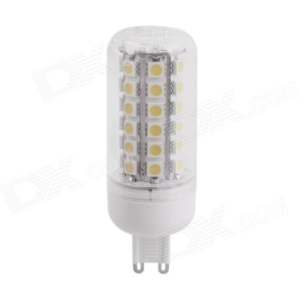 YMD-1 G9 5W 450lm 3000K 48 x SMD 5050 LED Warm White Corn Light - Transparent + White (220~240V)