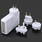 Universal 6-Port USB AC Power Adapter + US / UK / AU / EU Plug Adapters Set for Iphone / Ipad / Ipod