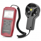 "NICETY AM831 Digital 2.3"" LCD Wind Speed / Temperature Meter - Red + Dark Grey (1 x 6F22)"