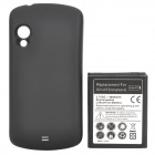4000mAh Lithium Battery + Back Case Cover for Samsung i405 - Black