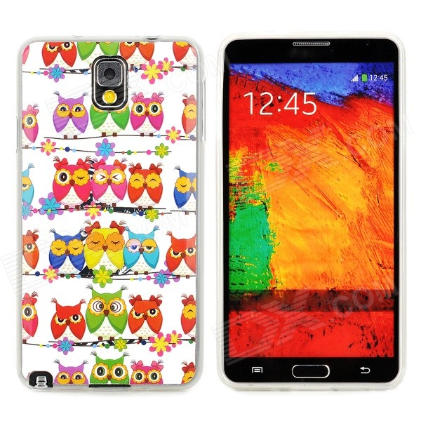 Birds Pattern Protective PVC Back Case for Samsung Galaxy Note 3 N9000 / N9002 + More - Multicolored enkay protective tpu back case w holder stand for samsung galaxy note 3 n9000 pink
