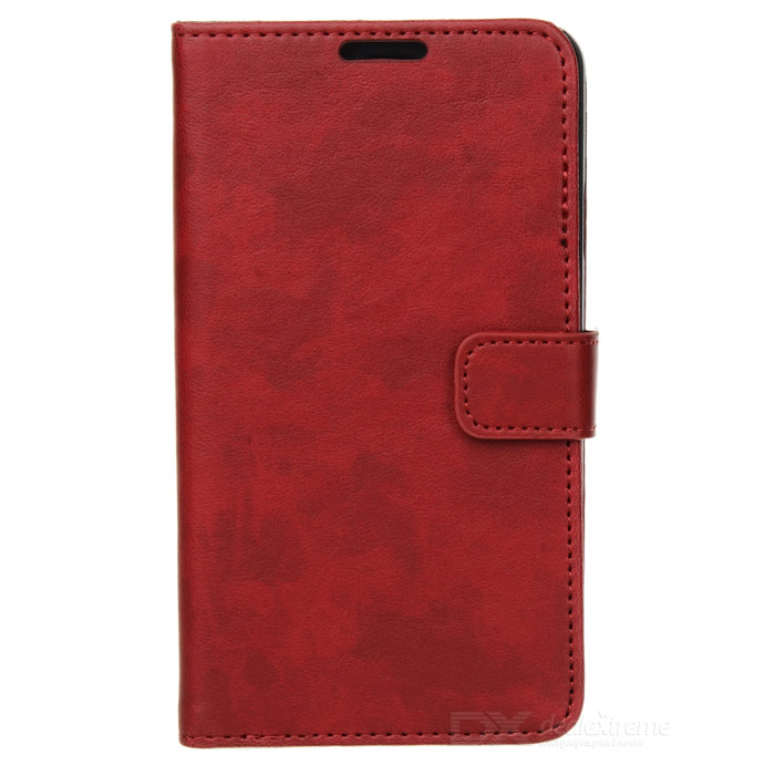 Protective Flip Open PU Case w/ Stand / Card Slots for Samsung Note 3 N9000 - Red protective flip open pu case w stand card slots strap for samsung galaxy note 3 n9000 white