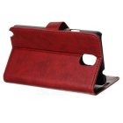 Protective Flip Open PU Case w/ Stand / Card Slots for Samsung Note 3 N9000 - Red