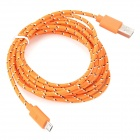 USB to Micro USB Data Charging Nylon Cable for LG Nexus 5 / E980 / LG Nexus 4 / E960 - Orange (3m)