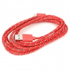 USB to Micro USB Data Charging Nylon Cable for LG Nexus 5 / E980 / LG Nexus 4 / E960 - Red (3m)