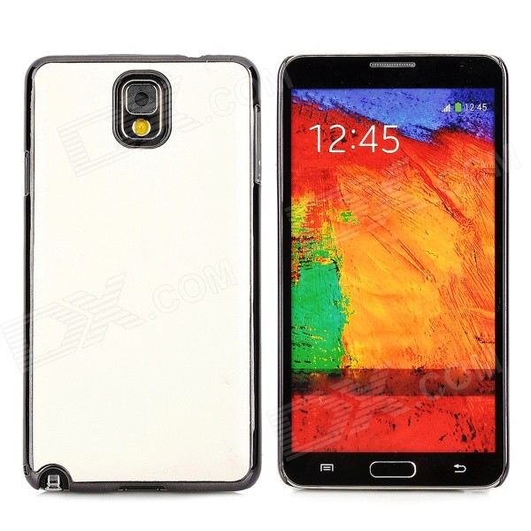 Protective PU + ABS Back Case for Samsung Galaxy Note 3 N9000 / N9005 / N9002 - White 20m waterproof bag case for 5 7 cell phone samsung galaxy note 3 n9000 white