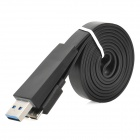 Micro USB 3.0 Flat Data / Charging Cable for Samsung Galaxy Note 3 - Black (100cm)