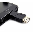 Micro USB Male to USB Female OTG Adapter for Samsung - Black